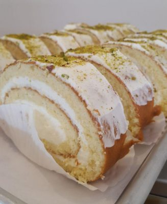 Swiss Roll Vanilla and Pistachio