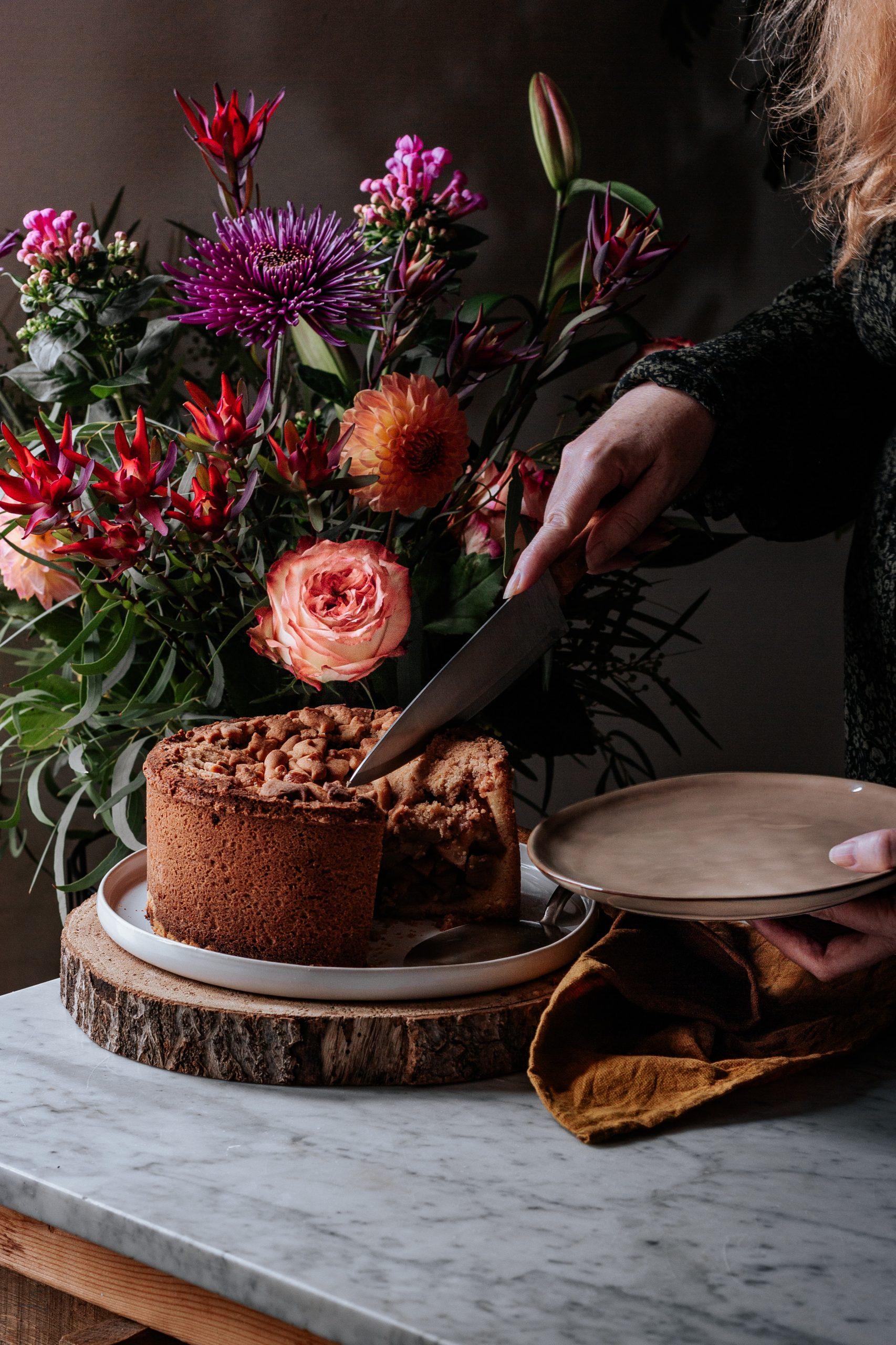cutting custom layers cake in halifax